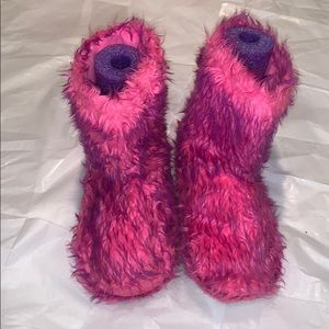 Justice Fuzzy Monster Booties